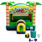 Commercial Inflatable Bounce House With Blower Tropical Paradise Jumping Castle