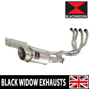 Zzr 1200 4-2 Exhaust System 8 Round Stainless Steel Muffler 200ss