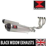 Zzr 1200 4-2 Exhaust System 16 Oval Stainless Steel + Carbon Muffler 400st