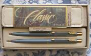 Parker Lady Classic Set Denim Blue Ballpoint Pen And Pencil And Case New In Box Usa