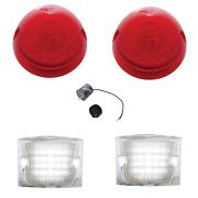 United Pacific Led Tail Light Back-up Light Set 1956 Chevy Bel Air 150 210