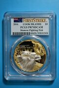2016 Cook Islands Pcgs Pr70 First Strike Siamese Fighting Fish Silver/ Gold Gilt