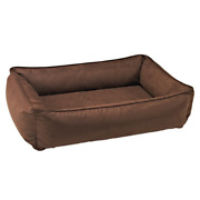 Bowsers Faux Leather Cowboy Urban Lounger Rectangle Nest Dog Bed — Pick Size