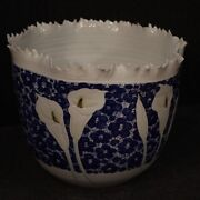 Chinese Vase Furniture Oriental In Painted Ceramic Antique Style Calla Lilies