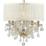 Crystorama Brentwood 6 Light Spectra Gold Drum Chandelier - 4415-gd-saw-clq