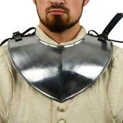 Medieval Late Gorget Iron Gothic Armor Neck Guard Sca Larp