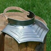 Medieval Neck Ribbed Gorget Guard Halloween Costume Reenactment