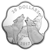 2017 Canada Exclusive Masters Club Pure Silver Coin -timber Wolf