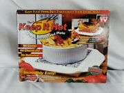 Keep It Hot Microwaveable Hot Plate Heats Dishes Mugs Baking Pizza Pasta Holiday