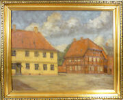 Hans Palludan Rasmussen Scenery With Old Houses.