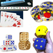 Big Dice Six Sided Opaque Game Kid Toys Desk Game Acrylic Wood Sponge Copper New