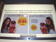 Rare Coca-cola Go-girls Set Of 4-static Cling Decals 21.5 W By 18h