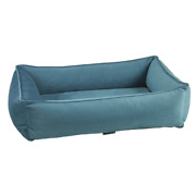Bowsers Microvelvet Teal Urban Lounger Rectangle Dog Bed — Pick Size