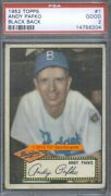 1952 Topps 1 Bb Andy Pafko Psa 2 6204