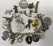 Vintage Lot Of Sterling Silver Assorted Charm Bracelet Charms Not Scrap 60 G