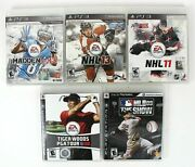 Sony Ps3 Game Bundle Lot Of 5 Nhl Mlb The Show Pga Tiger Woods Nfl Madden 13
