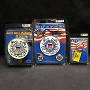 Us Coast Guard Collectors Series Auto Grill Badge Pins Patch Key Ring Military