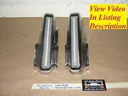 75 Cadillac Deville Left And Right Front Bumper Outer Bumper Guards Impact Strips