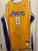 Mitchell And Ness Signed Kobe Bryant 8 Limited Edition Menand039s Jersey La Lakers