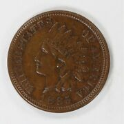 1885 Indian Head Cent Penny 1c Au / Bu About To Brilliant Uncirculated 2100