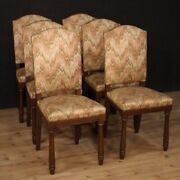 6 Chairs Furniture In Rustic Antique Style Seats Armchairs Living Room Fabric