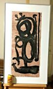 Joan Miro Lithograph Very Large 1960s Era Framed Matted