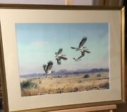 John Cyril Harrison Large Water Color Painting