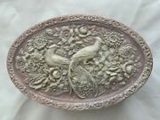 Incolay Stone 3.5x6.5x10 Jewelry Trinket Box Hand Carved Birds Of Paradise
