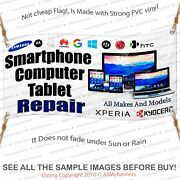 Cell Phone Repair Banner Sign Iphone Apple Computer Tablet
