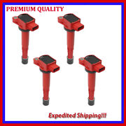 4pc Jhd289-r Ignition Coil For Honda S2000 2.2l L4 2004 2005