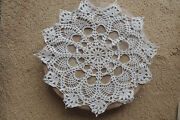 Hungarian Handmade Cotton Vintage Crocheted Table Top Doilies Large New 14