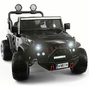 Kids Ride On Wild Jeep Battery Powered Car 12 Volt Children Electric Toy Black