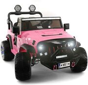 Kids Ride On Wild Jeep Battery Powered Car 12 Volt Children Electric Toy Pink