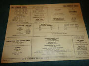 1965 Chevrolet Corvair 164 Six Cyl Engine Sun Tune-up Chart Turbo Super Charged