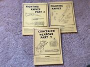 3 Book Cashier Publications Lot - Concealed Weapons 2 Fighting Knives Parts 1/2