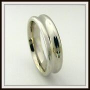 14 Kt Solid White Gold Custom Made Wedding Band For Men And Ladies / Df 0019 /