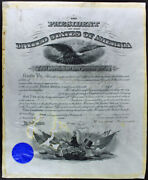 Theodore Roosevelt And William Howard Taft Signed 15x20 1904 Document Psa Y00859