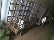 Vintage Factory Cage Cart Monte Python Medieval Steel Heavy Industrial Antique
