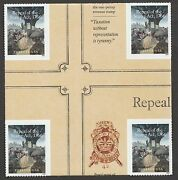 Us 5064 Repeal Of The Stamp Act 1766 Forever Cross Gutter Block Mnh 2016