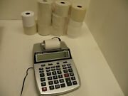 Canon P23-dh V Printing Calculator W Plug And 10 Rolls Of Paper, Calander, Clock