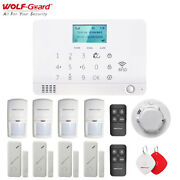 Wolf-guard Wireless Home Security Alarm System Gsm Sms Ios/android App Control