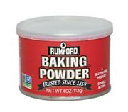 Rumford Gluten Free Double Acting Baking Powder 4oz Can New Unopened