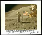 Apollo 15 Crew 3 Scott, Worden And Irwin Signed And Mounted 8x10 Photo Bas A85716