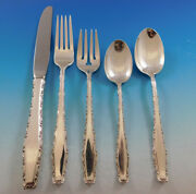 Rapallo By Lunt Sterling Silver Flatware Service For 12 Set 64 Pieces Vintage