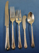 Chased Romantique By Alvin Sterling Silver Flatware Set For 12 Service 62 Pieces