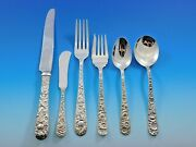 Repousse By Kirk Sterling Silver Flatware Set For 12 Service 87 Pieces