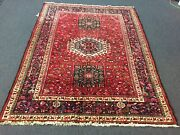 On Sale S.antique Hand Knotted Vintage Karajeh Area Rug Geometric 5and0392x6and0398846