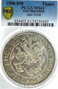 German States Mansfeld-friedeburg 1588 Taler Coin Thaler Ngc Ms 61 Vz/f.stg Unc