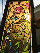 Beautiful Antique Stained Glass Window Rondels Pressed Jewels Pointed Rondels
