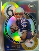 2000 Tom Brady Contenders Round Numbers Gold Refractor Auto 49/60 Extremely Rare
